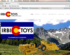 IRBIC Toys Logo and Website